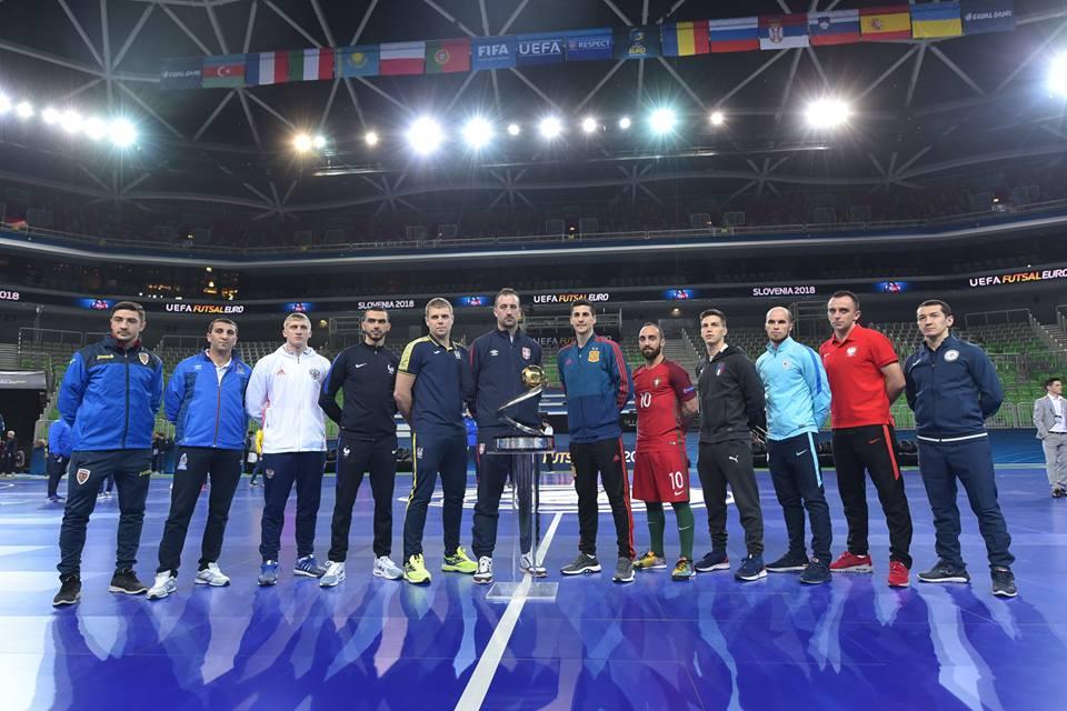 Futsal Euro 2018 capitani