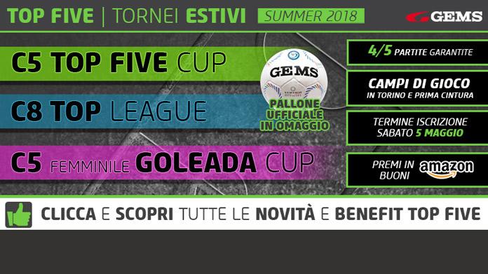 top five cup goleada